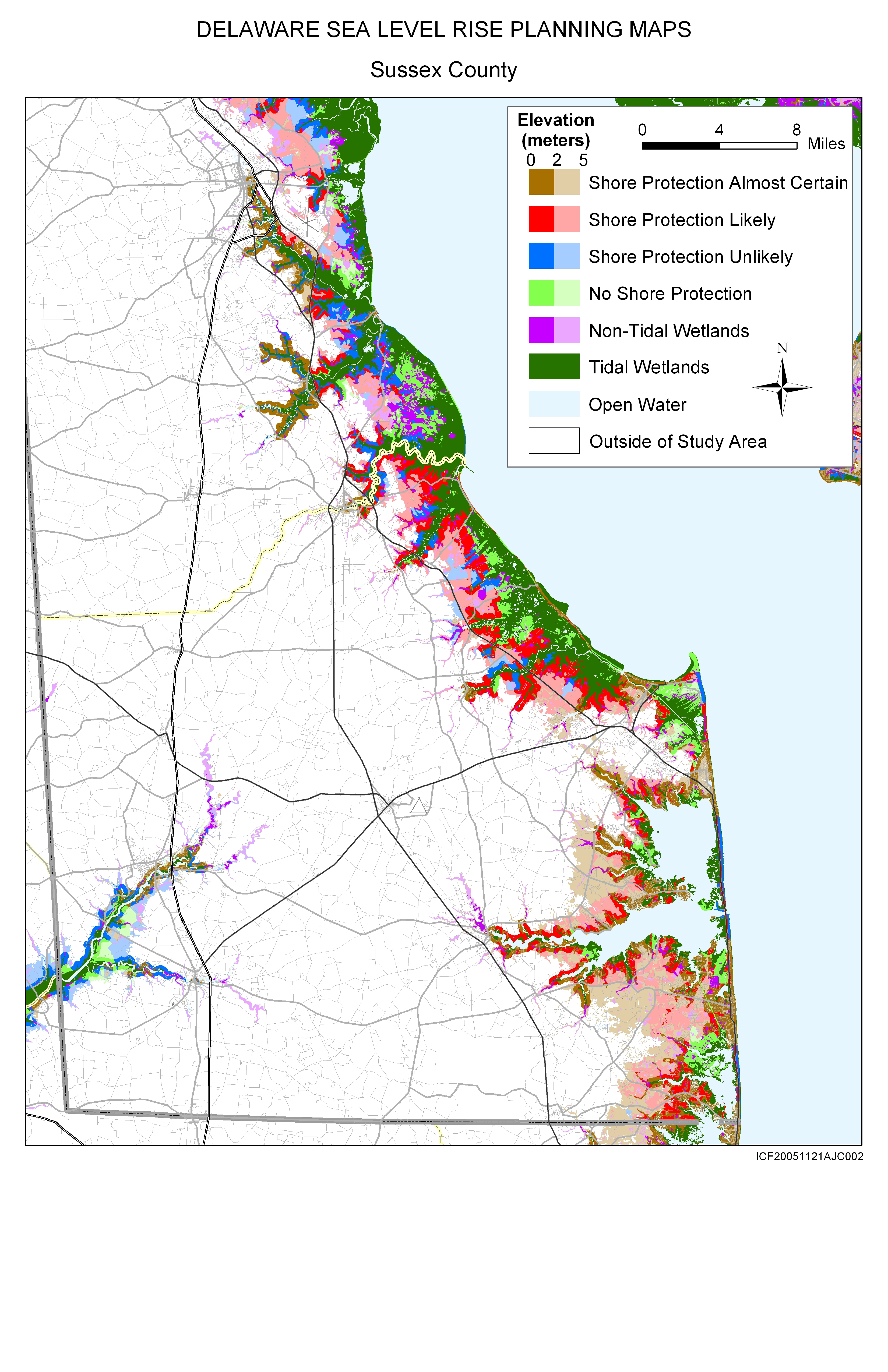 Sea Level Rise Planning Maps Likelihood Of Shore Protection In Delaware