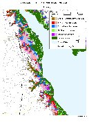 Kent County, Delaware sea level rise planning map