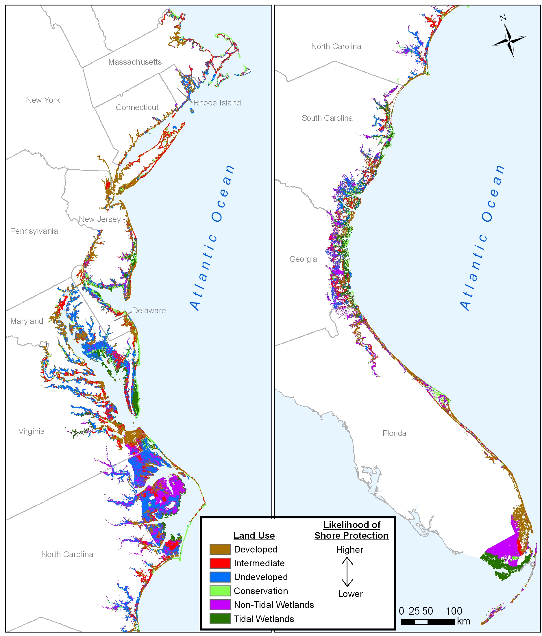 Sea Level Rise Planning Maps Likelihood Of Shore Protection In - Us sea level map