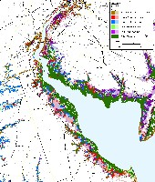 Delaware Bay sea level rise planning map