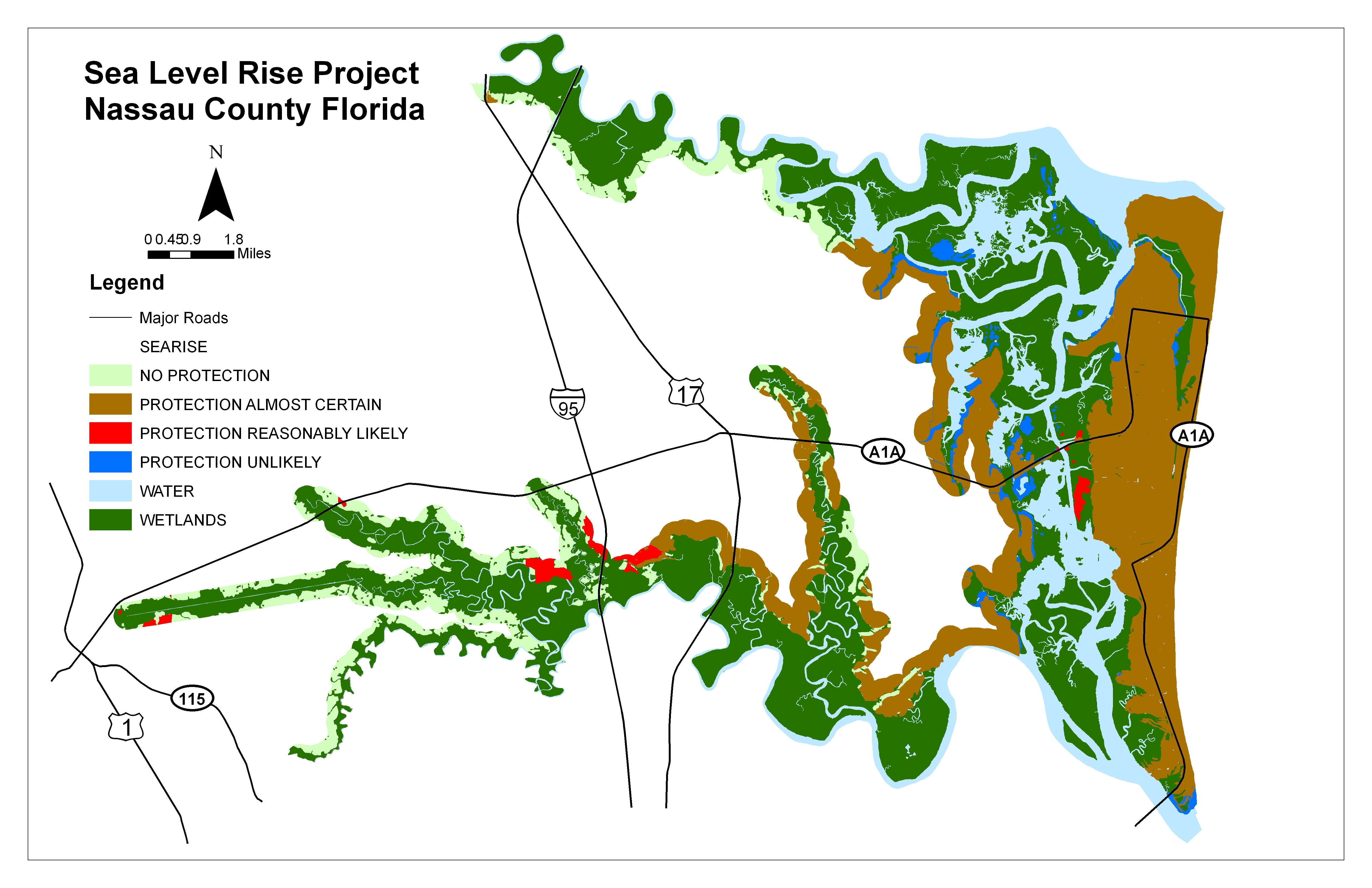 Sea Level Rise Planning Maps Likelihood Of Shore Protection In Florida