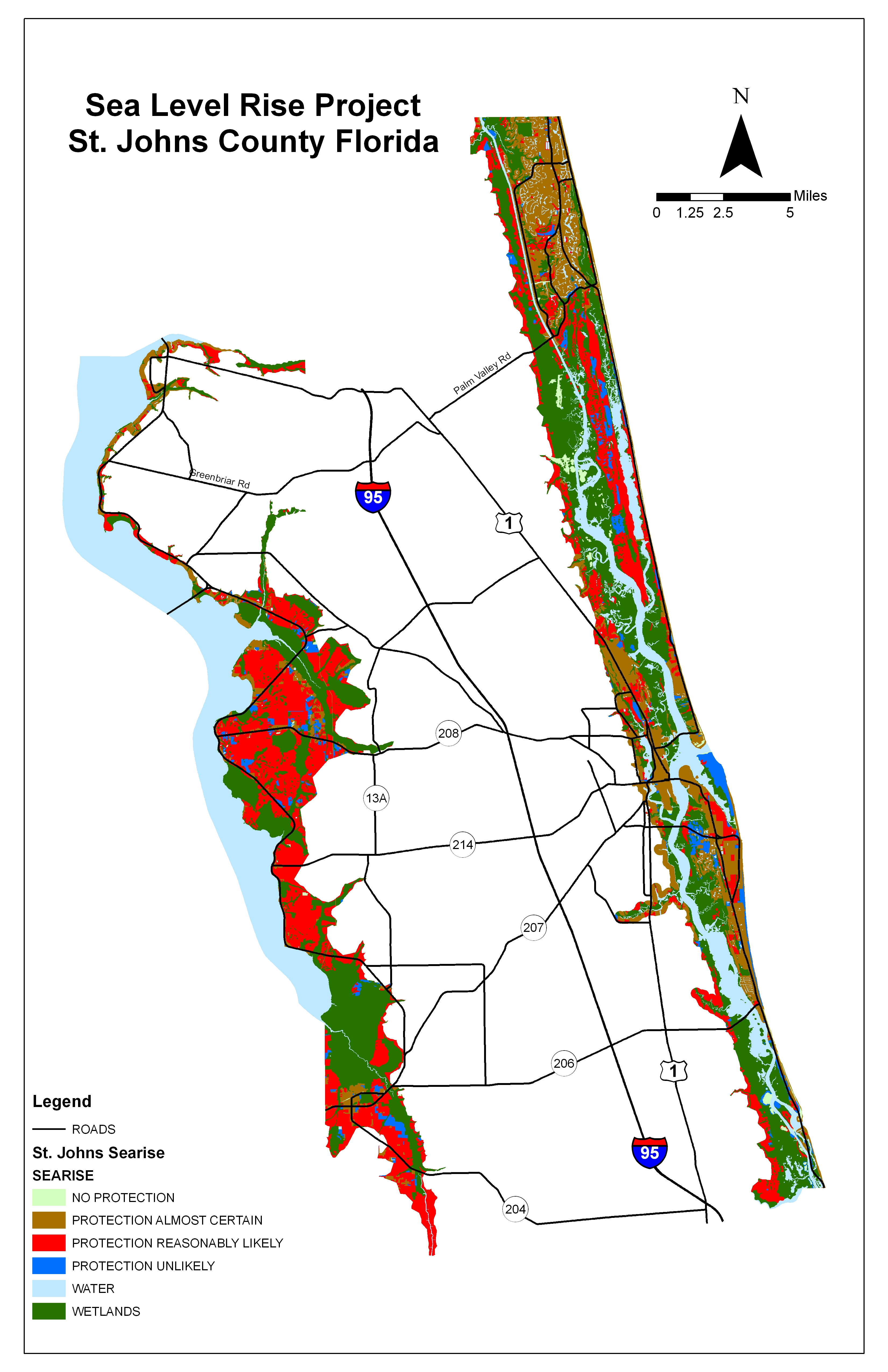 Sea Level Rise Planning Maps Likelihood Of Shore Protection In - Florida map rising sea levels