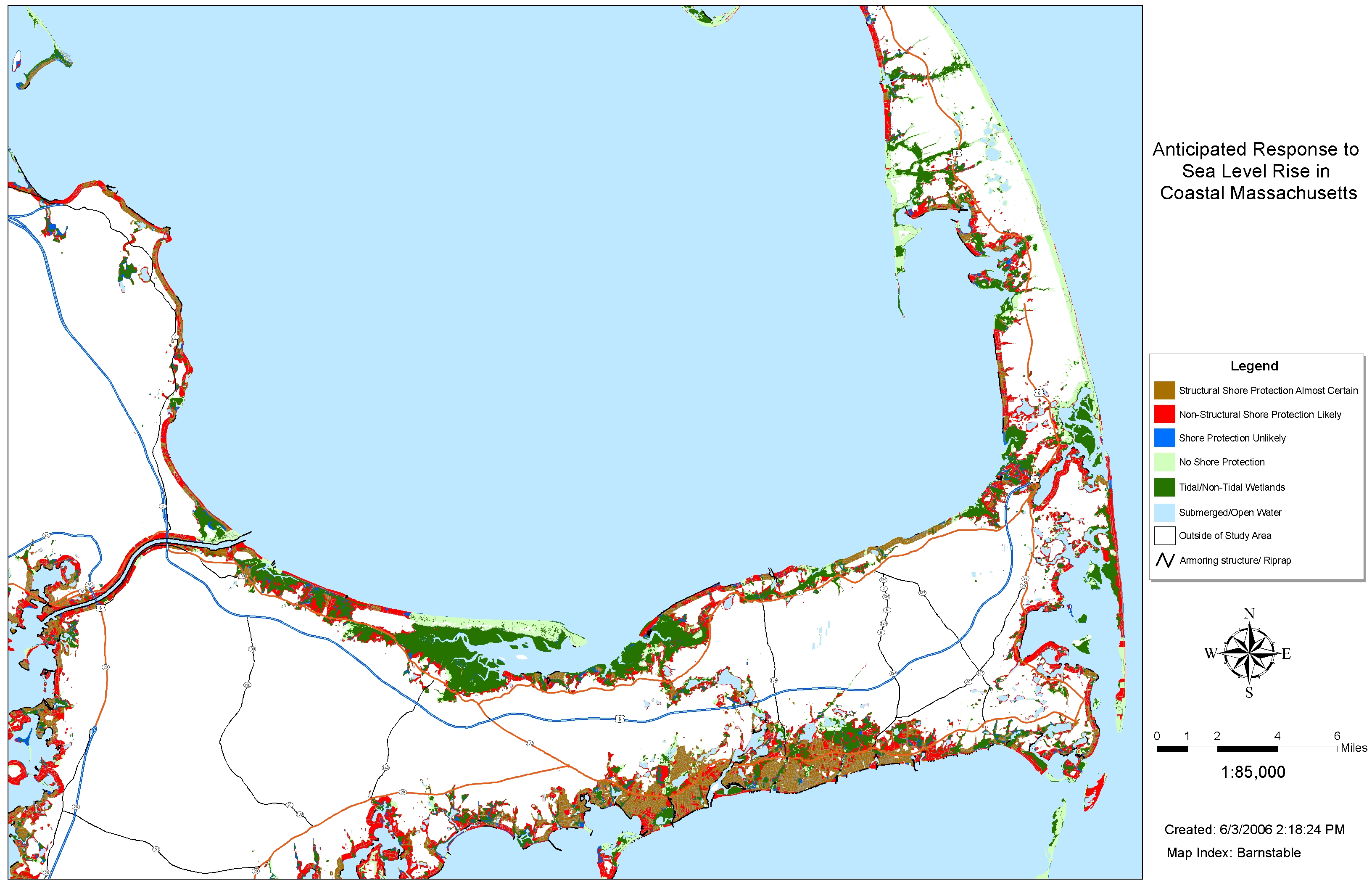 Sea Level Rise Planning Maps: Likelihood of Shore Protection in