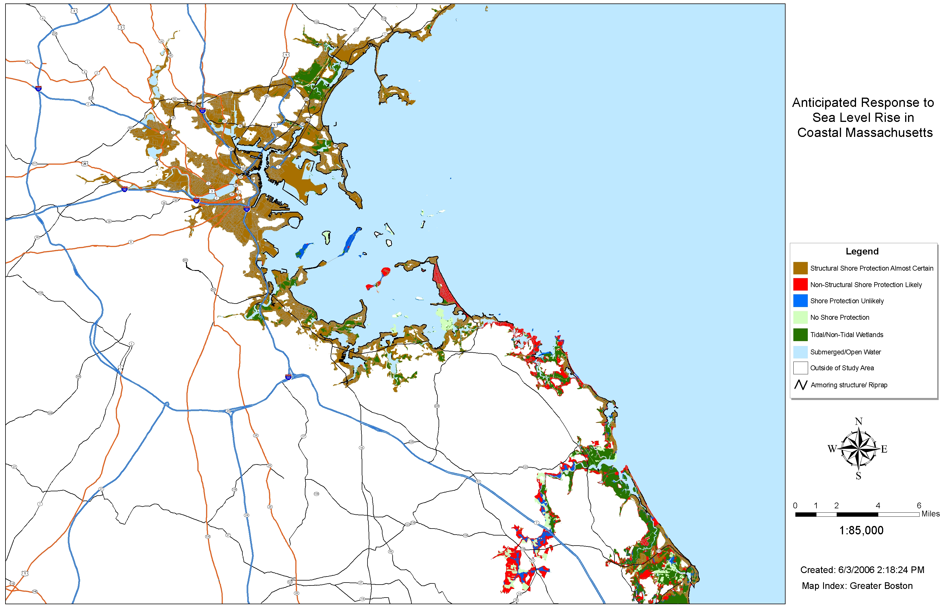 Sea Level Rise Planning Maps Likelihood Of Shore Protection In - Map massachusetts