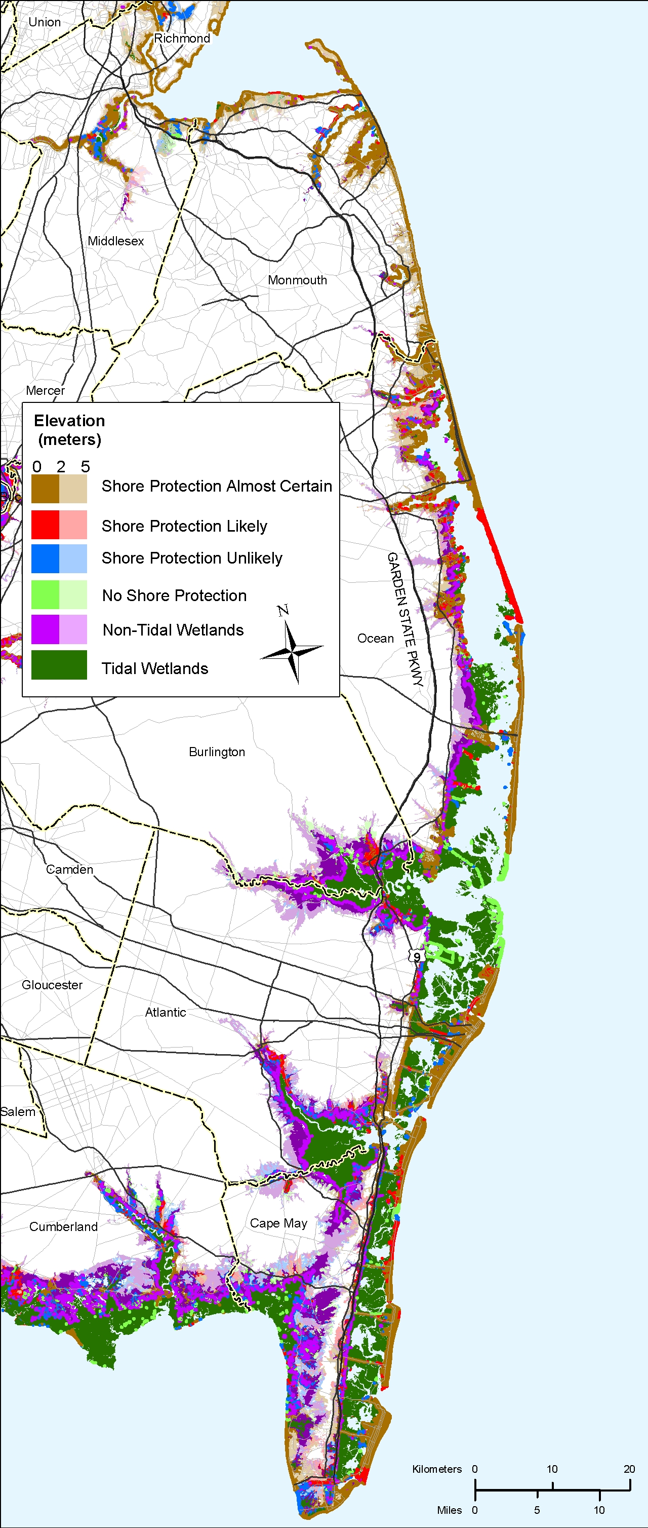 More Sea Level Rise Planning Maps Likelihood Of Shore Protection - Us sea level map