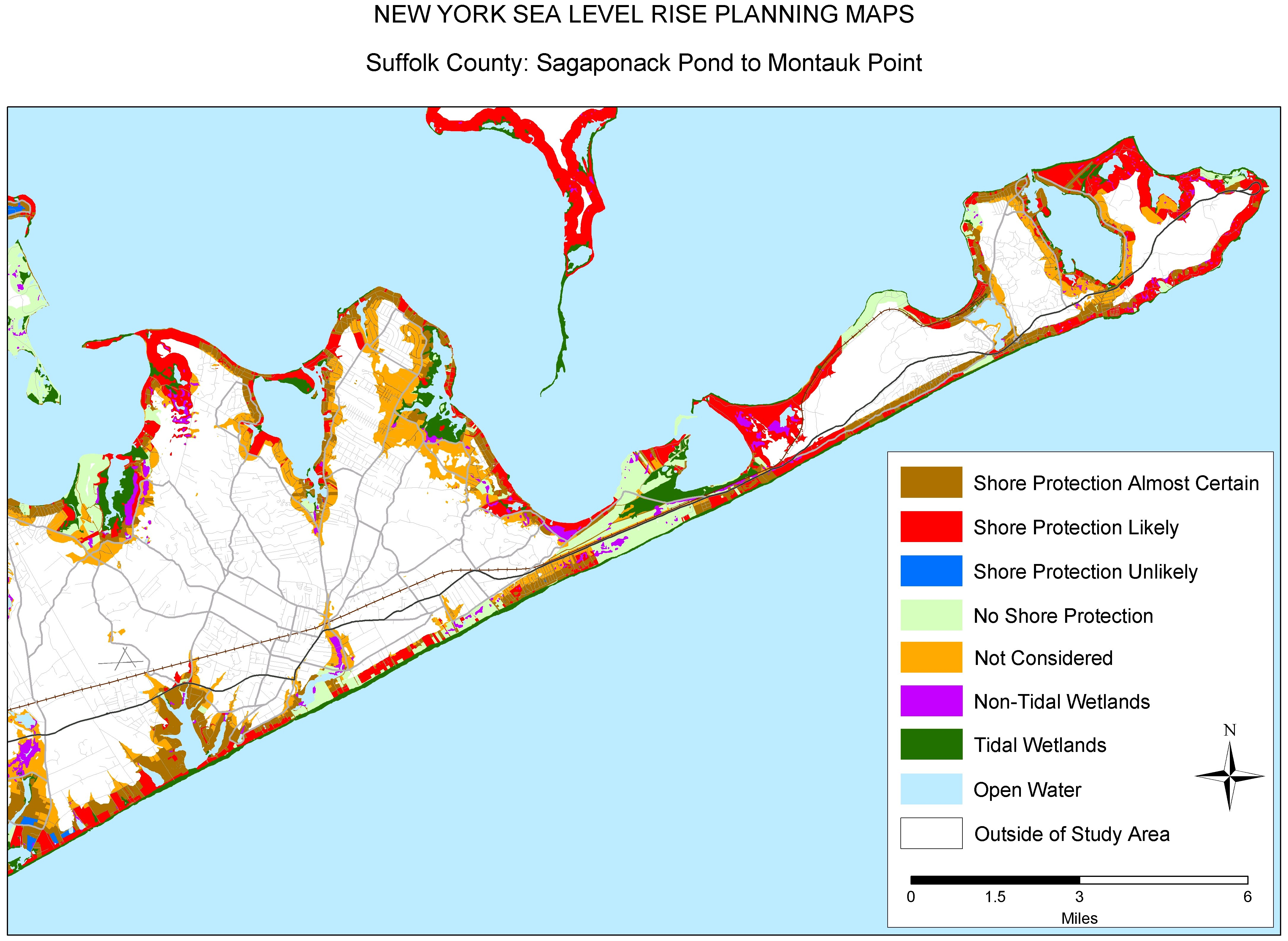 New York Map Long Island.Sea Level Rise Planning Maps Likelihood Of Shore Protection