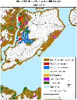Staten Island, New York:  sea level rise planning map