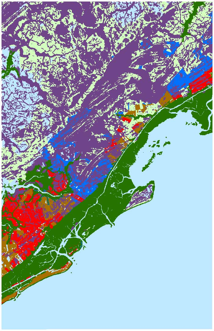 Sea Level Rise Planning Maps Likelihood Of Shore Protection In - South carolina elevation map