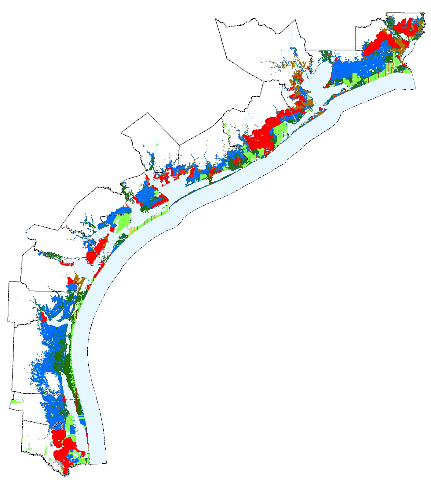 Map Of Texas And Florida.Sea Level Rise Planning Maps Likelihood Of Shore Protection In Florida