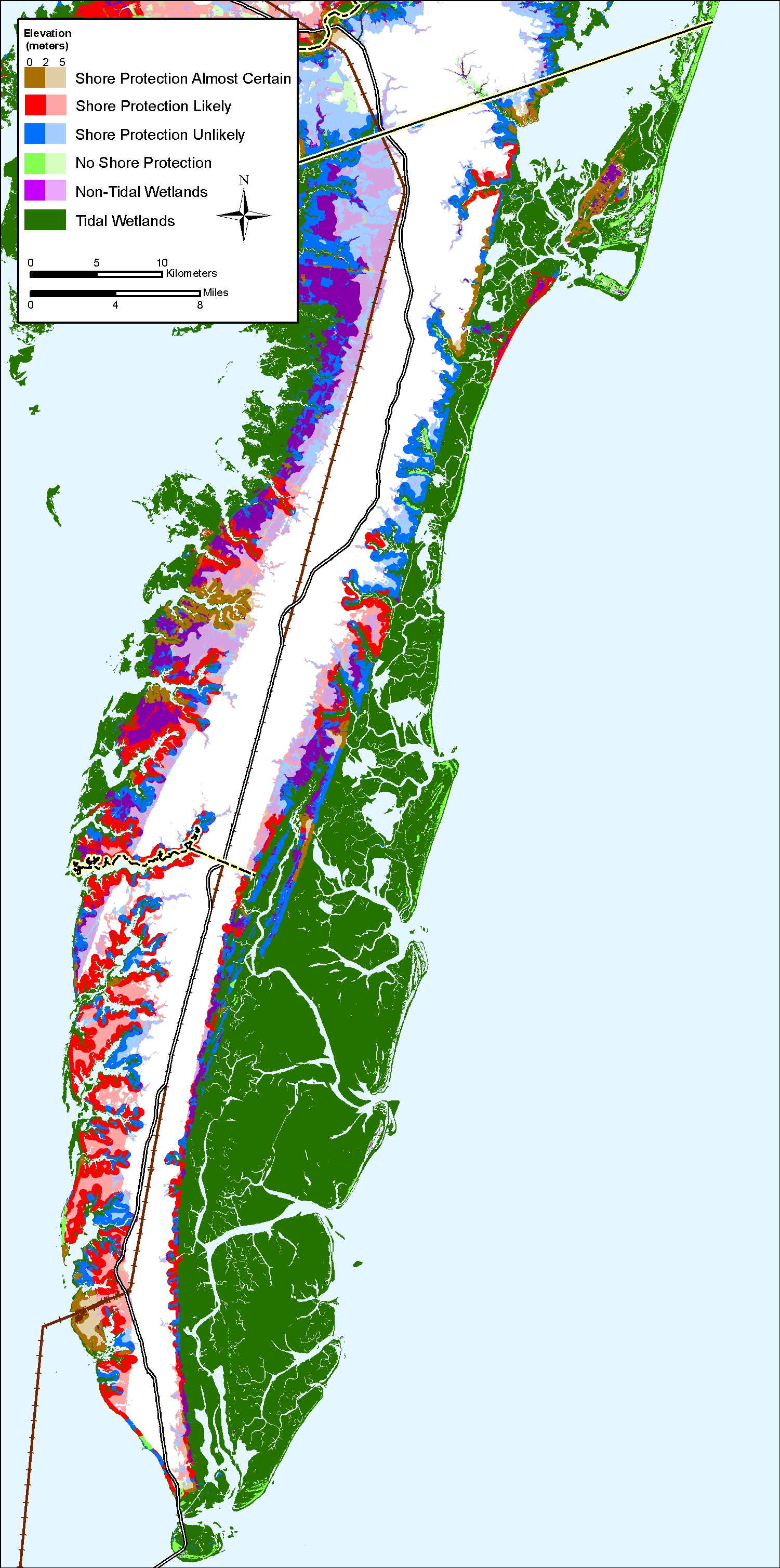 Sea Level Rise Planning Maps Likelihood Of Shore Protection In - Elevation above sea level by zip code
