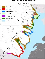Prince William County, Virginia.  Sea level rise planning map